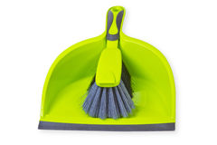 Broom with dustpan Stock Photos
