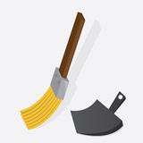Broom Dustpan Stock Photography