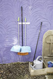 Broom and dustpans Stock Photo