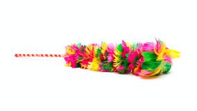 Broom from feathers Royalty Free Stock Image