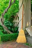 Broom in Garden Stock Photography