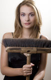 Broom Girl Stock Photos