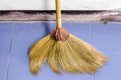 Broom in house Stock Images