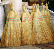 Broom for household waste Royalty Free Stock Image
