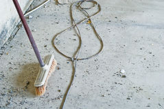 Free Broom In Renovation Room Royalty Free Stock Image - 4089146