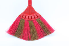 Broom. Isolated clean  street sweep object illustration background pink dust home work house dirty domestic tool brush cleaner sweeping design nature set floor Stock Image
