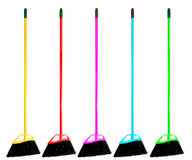 Broom Isolated set Stock Image