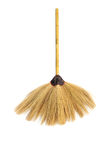 Broom isolated on white Royalty Free Stock Photo