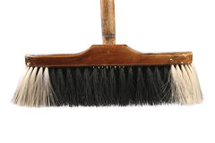 Broom isolated on white Royalty Free Stock Photos