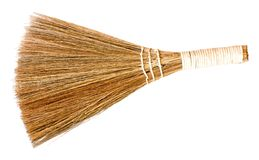 Broom isolated on a white background Royalty Free Stock Photo