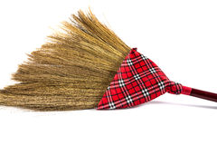 Broom isolated on white background. Red broom isolated on white background Stock Images
