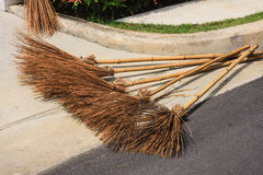 Broom made of coconut stalk Royalty Free Stock Images