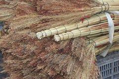 Hay broom Stock Photo