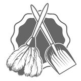 Broom maid Stock Photo