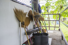 Broom and mop Royalty Free Stock Photos