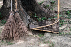 Broom. In the park, cleaning day Royalty Free Stock Photography