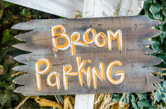 Broom Parking Sign Royalty Free Stock Photos