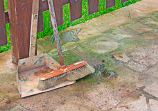 Broom and scoop Royalty Free Stock Photo