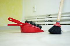 Broom and shovel Stock Photography