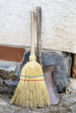 Broom and shovel Stock Photos