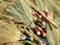 Broom Sticks. Traditional broom sticks made of hay used in Villages of India Stock Image