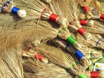 Broom Sticks. Traditional broom sticks made of hay used in Villages of India Royalty Free Stock Images