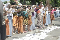 Broom Sticks Anti-Corruption Action The Schoolgirl Stock Photo