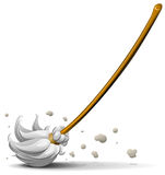 Broom sweep floor Royalty Free Stock Images