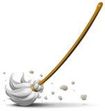 Broom sweep floor stock illustration