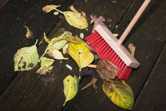 Broom Sweeping Stock Photo