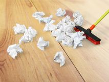 Broom. Sweeping Cleanup Messy Office Clean Cleaning Stock Photography