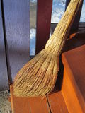 Broom. For sweeping floors, standing in the corner at the threshold Royalty Free Stock Images
