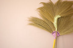 Broom on wall Royalty Free Stock Photo