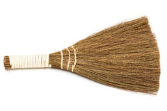 Broom on a white background Royalty Free Stock Photography