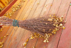 The Broom of the wooden sticks Stock Images