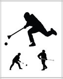 Broomball game Royalty Free Stock Photo