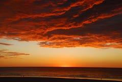 Broome澳大利亚西部日落 库存图片