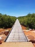 Broome västra Australien gammal gatabrygga Royaltyfri Fotografi