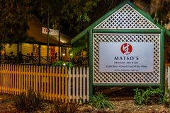 Matso`s boutique brewery is famous for its Craft beer and fine dining royalty free stock images