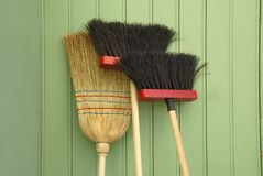 Brooms Royalty Free Stock Photography