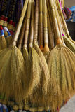 Brooms and broomsticks Royalty Free Stock Photos