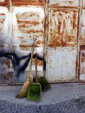 Brooms and Cleaning Scoops Royalty Free Stock Photography