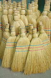 Brooms close up on the market Stock Photography