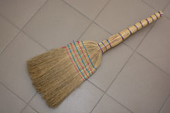 Brooms on the floor Royalty Free Stock Photo