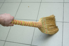 Brooms on the floor Royalty Free Stock Images