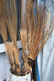 Brooms made from coconut leaf Stock Photography