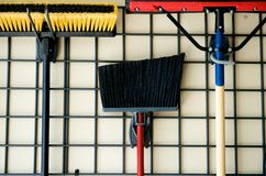 Brooms and other tools Royalty Free Stock Photography