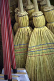 Brooms for sale in typical market of Brazil. Brooms of sorghum for sale in typical market of Brazil Royalty Free Stock Image