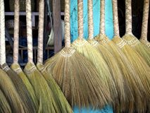 Brooms in a store Royalty Free Stock Image