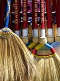 Brooms in a store Royalty Free Stock Images